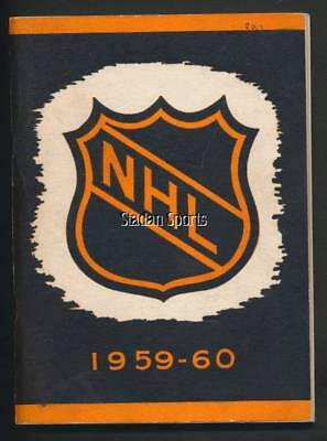 Vintage NHL Press & Radio Guide 1959-60  Great Condition