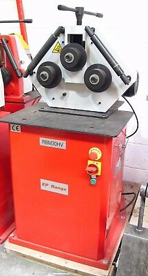 RBM 30HV Powered section roll / profile bending machine, 40 x 40 section