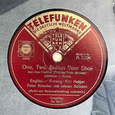 Peter Kreuder Orch. - Eric Helgar (Engl.) - One, Two, Button your Shoe / So I Do