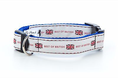 Best Of British Handmade Retro Puppy Dog Collar OR Lead Size Small - Extra Large