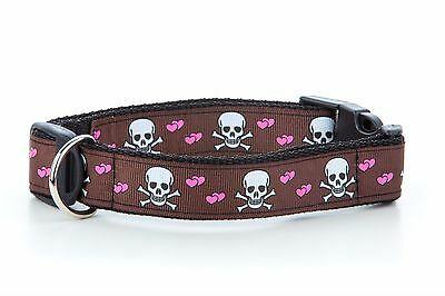 Chocolate Skulls Puppy Dog Collar OR Lead Size Small - Extra Large