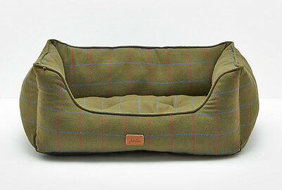 Joules Green Stratton Check/Heritage Percher Puppy Dog Bed Sizes Small - Large