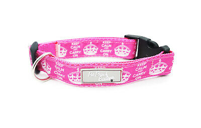 Keep Calm Carry On Fun Puppy Dog Collar OR Lead Size Small - Extra Large