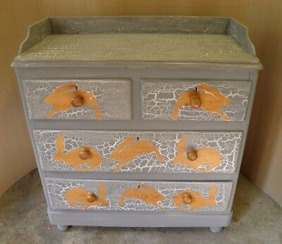 Gorgeous Painted Antique Rustic Pine Chest Drawers Ideal Nursery Chest