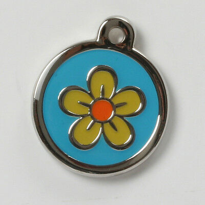 Classic Daisy Flower Puppy Dog/Cat I.D Tag - FREE ENGRAVING small-extra large