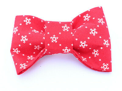 Baby Snowflake Christmas Dicky Bow Tie - MEDIUM- for Puppy , Dog , Cat