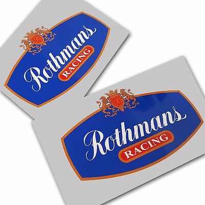 Rothmans racing sponsor decals custom graphics stickers x 2 pieces 170mm wide