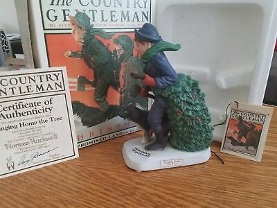 """Norman Rockwell """"Bringing home the tree"""" FREE SHIPPING"""