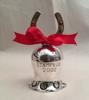 International Silver Co. Hand Made India Silverplate Stampede Bell 2002 IN BOX