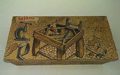 Vintage RARE LUJANO Handmade Italy Advertising Display Empty Shoe box