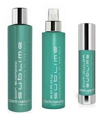 abril et nature Sublime Hair Treatment Hyaluronic acid & Stem Cell -4 products