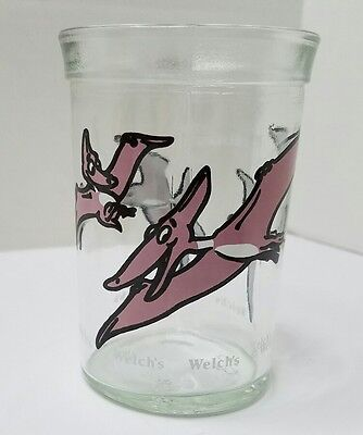 Welch's Jelly Glass PTERODACTYL  1988