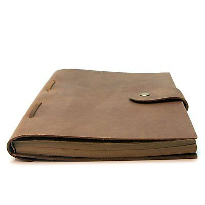 Vintage Bound Handmade Leather Cover Journal Notebook Men Women Diary Brown New