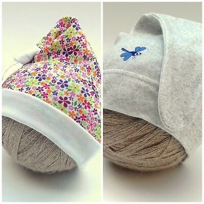 SALE! CUTE BABY GIRL BOY HATS 0-3 Months 3-6 Months  100& SOFT COTTON