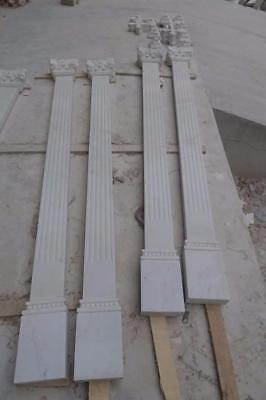 Hand Carved Marble Corinthian Estate Wall Columns  - Zp5