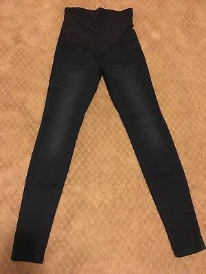 NWT MAMA by H&M maternity skinny jeans, size 4 dark blue, over the bump elastic
