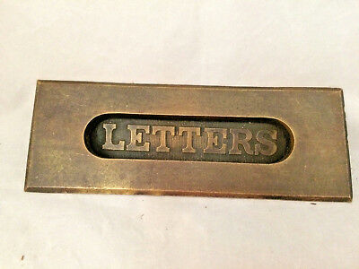 Rare Vintage Metal Mail Letters Door Slot Old Architectural Salvage Hardware