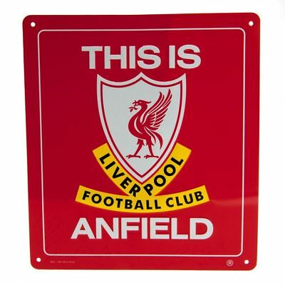 Liverpool FC Decorative Metal ''This is Anfield'' Sign - Official Merchandise