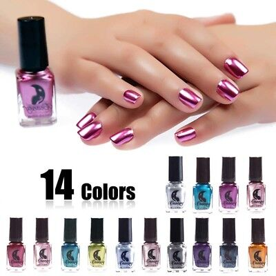 6ml Metallic Nail Polish Magic Mirror Effect Chrome Nail Art Polish Varnish