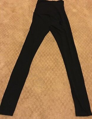 Gap Maternity black cotton leggings, size XS, over the bump waistband
