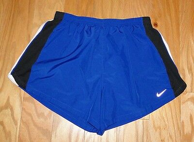 Nike Running Dri Fit Women's Athletic Shorts Size XL Blue Tempo