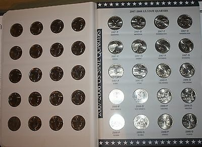 1999-2009 UNC Complete Official USA State & Territory Quarter Collectors Album