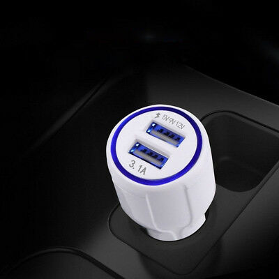 Fast-Quick Charge Dual USB QC3.0 Car Charger 3.1A for Samsung Galaxy S6 Note 4 5