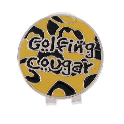 Magnetic Golf Hat Clip + Golf Ball Marker Golf Accessories Yellow Black
