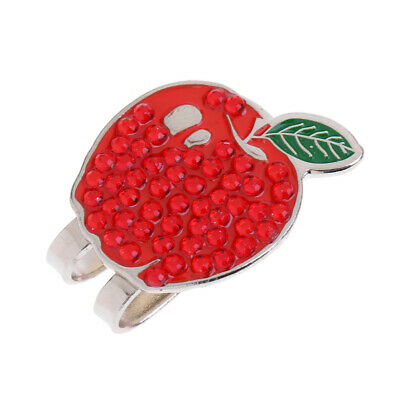 Magnetic Golf Hat Clip + Funny Red Apple Golf Ball Marker Golf Accessories