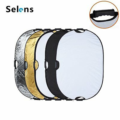 "32x48"" 5-in-1 Collapsible Multi Photo Light Reflector Kit for Photography Video"