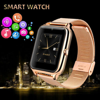 Bluetooth Smart Watch Phone Mate Smartwatch Stainless Steel For IOS Android NEW