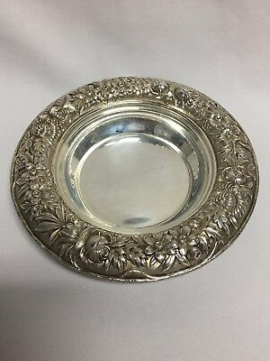 Kirk Repousse Sterling Silver Open Butter Dish 58F No Mono