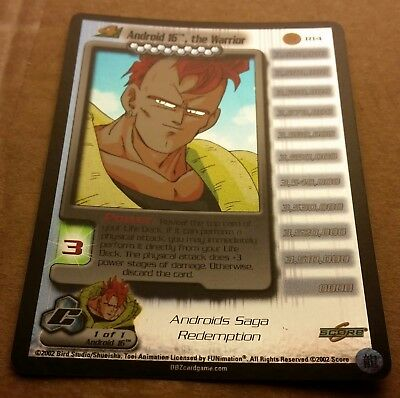Dragon Ball Z R14 Android 16, the Warrior Lv. 4 Foil Promo Mint DBZ CCG