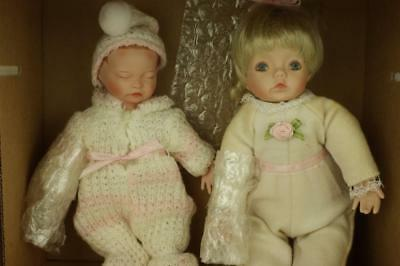 Ashton Drake Galleries Two Porcelain Miniature Collection Dolls Cert Boxed SA90