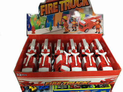 12 Fricion Fire Truck In Display & Movement 2 Styles Kids Toy Bulk Wholesale lot