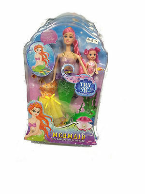 12 Mermaid With Light & Music Great Girls Toy Gift Bulk Wholeasle Lot