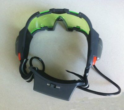New LED Night Vision Goggles Glass with Filp-out Light Windproof Night Lighting