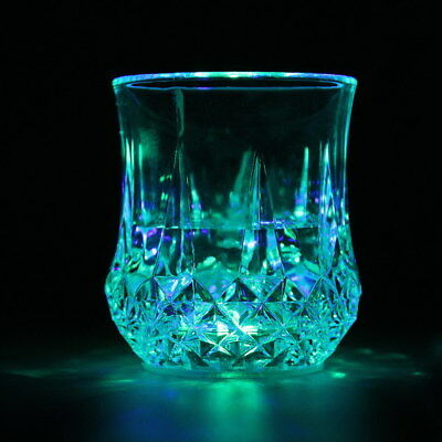 LED Colorful Light-Up Acrylic Pineapple Cup WaterLiquid Glowin Wine Glass Cup