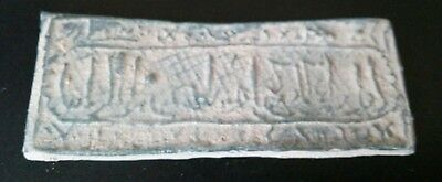 Original Old Amulet Al Andalus Califate With Arab Inscriptions For Clasification