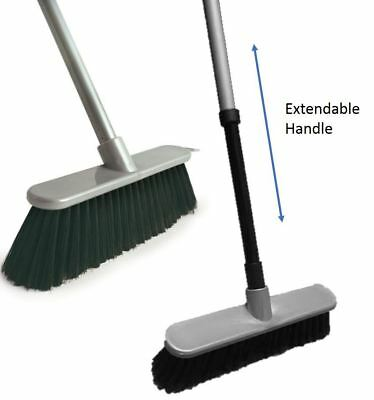 Extendable Soft Indoor Sweeping Broom Kitchen Caravan Brush Telescopic Handle