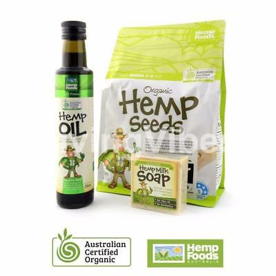250 OR 500ml Cold Pressed Hemp Seed Oil & 1kg Hulled Hemp Seeds 100% Organic