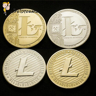 Gold/Silver Plated Litecoin Coins Vires in Numeris Commemorative Coin Collection