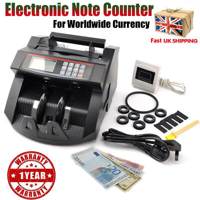 Professional Banknote Money Currency Counter Count Fake Detector Cash Machine