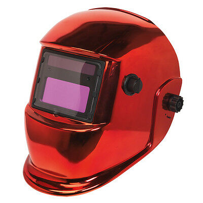Sealey PWH598R Welding Helmet Auto Darkening Shade 9-13 - Red