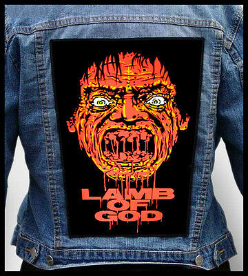 LAMB OF GOD  --- Giant Backpatch Back Patch /In Flames Mastodon Unearth