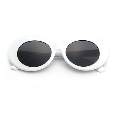Kurt Cobain Clout Goggles Rapper Glasses Unisex Sunglasses White Oval Goggles