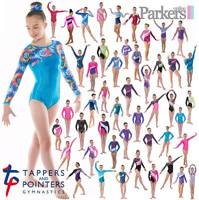 New Tappers And Pointers Longsleeve Girls Gymnastics Leotard Gym Leo 4-12 Years