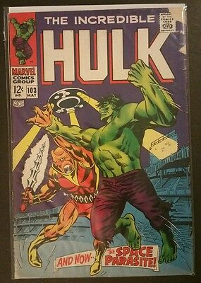 The Incredible Hulk #103 And Now The Space Parasite