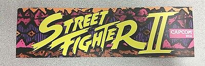 Street Fighter II  marquee sticker. 3 x 10. (Buy any 3 stickers, GET ONE FREE!)