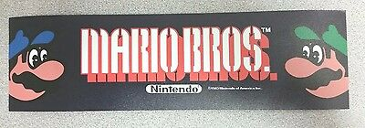Mario Bros. marquee sticker. 3 x 10. (Buy any 3 of my stickers, GET ONE FREE!)